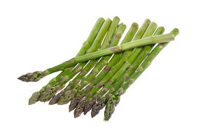 Asparagus spears isolated