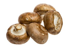 Portobello mushrooms isolated