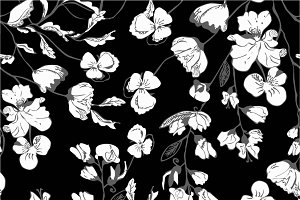 Seamless vector flowers pattern