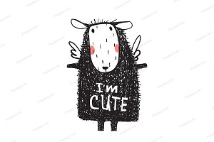 I am Cute Hairy Sheep