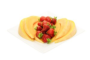 Cantaloupe and strawberries
