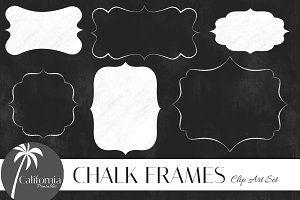 Chalk Frames & Borders Clip Art Set