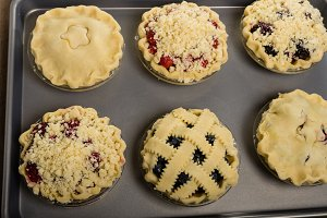 Fresh filled fruit pies