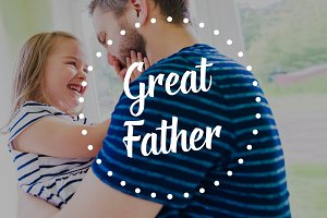 Hipster father holding little daughter. Fathers day concept.