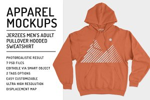 Pullover Hooded Sweatshirt Mockups
