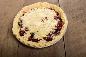 Homemade fruit pie