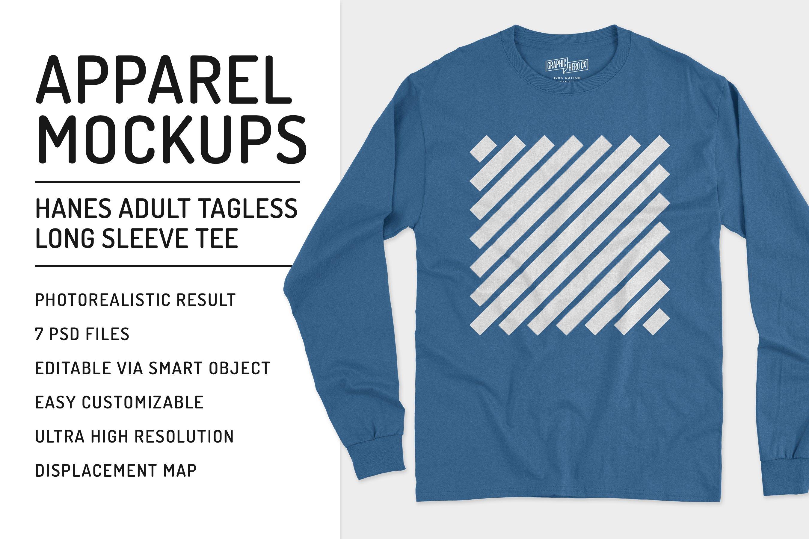 Full Sleeve T Shirt Mockup Psd