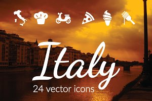 ITALY - vector icons
