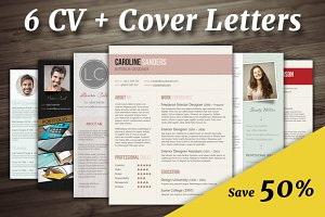 50% Off: 6 CV + Cover Letters