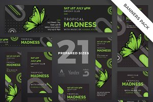 Banners Pack | Tropical Madness