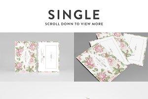 Card Mockup &#x3B; Single & Bi-fold