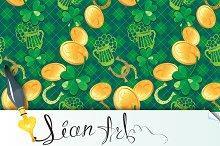 Seamless Saint Patrick day pattern.
