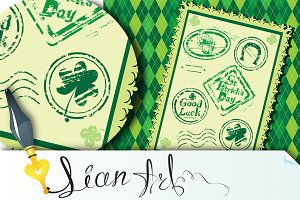 stamps, St. Patrick's Day