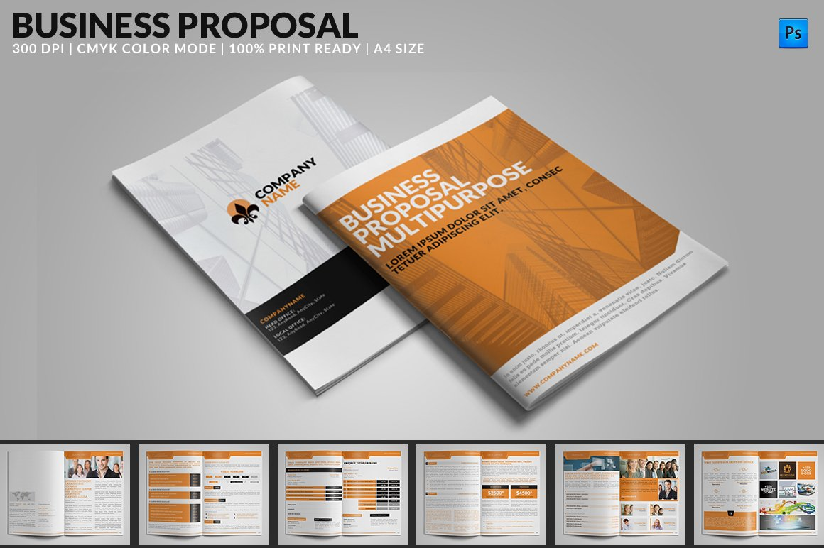 Business proposal multipurpose brochure templates creative market wajeb