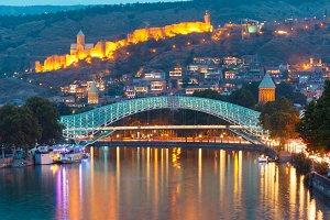 Narikala and Bridge of Peace, Tbilisi, Georgia