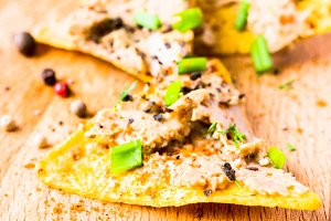 Tacos with pate
