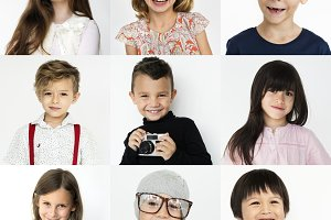 Portraits of kids