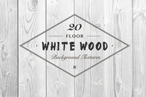 White Wood Floor Background Textures