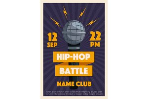 Hip hop poster with microphone