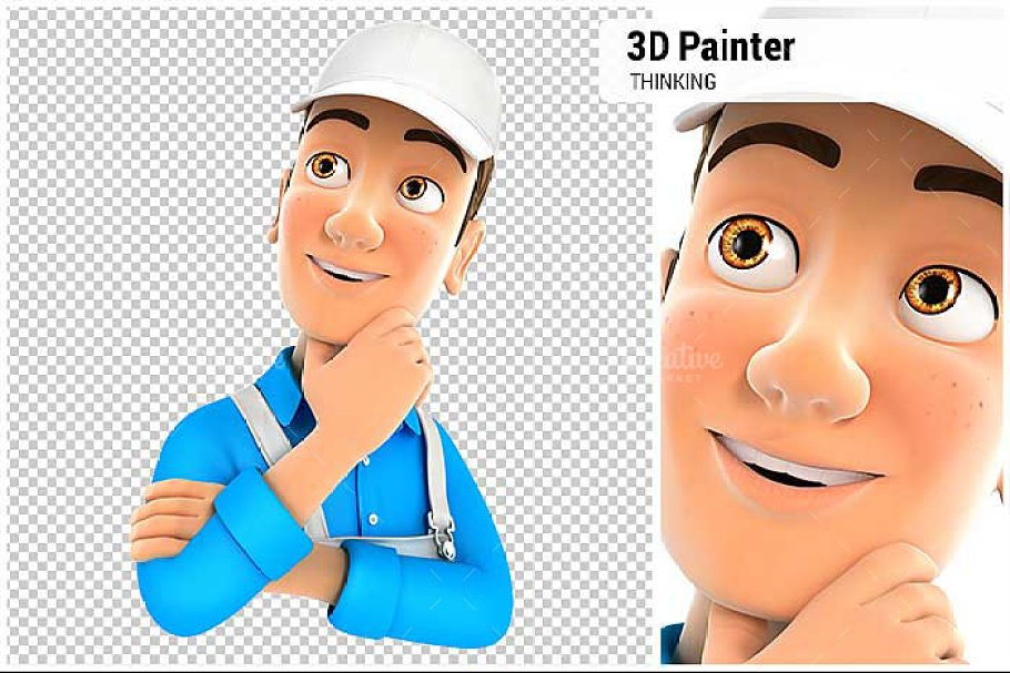 3D Painter Thinking