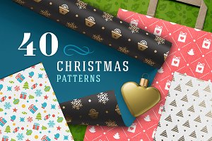 40 Merry Christmas patterns