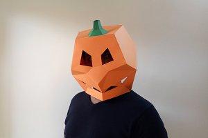 DIY Pumpkin Mask - 3d papercraft
