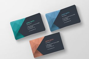 Modern Polygonal Business Cards