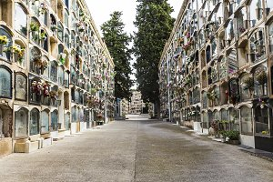 Les Corts cemetery. Barcelona