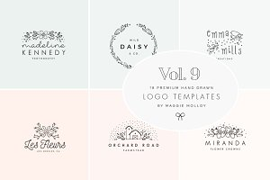 Feminine Premade Logo Bundle Vol. 9