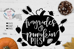 Hayrides and Pumpkin Pies Cut File