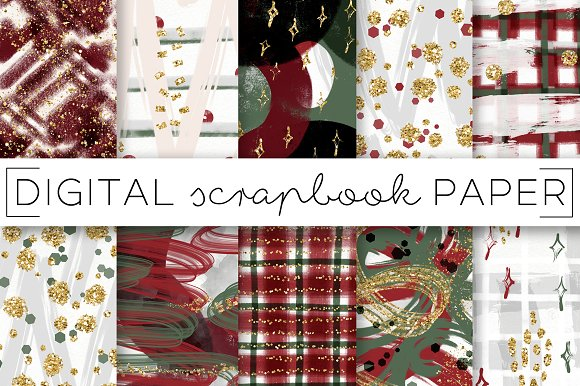 Abstract Holidays Digital Papers