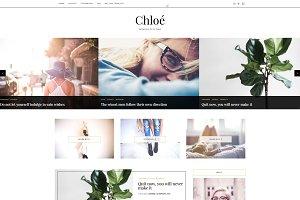 Premade Blogger Template - Chloe
