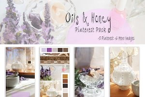 Oils and Honey Pinterest Pack