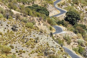 winding road in Spain