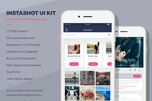InstaShot UI Kit