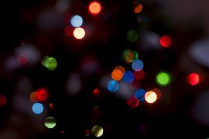 Christmas light boken blurred