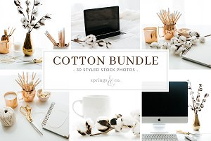 Cotton Styled Stock Photo Bundle