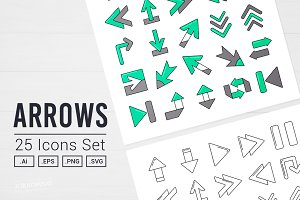 Arrows Vector Icon Set