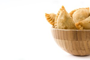 Typical Spanish empanadas in bowl