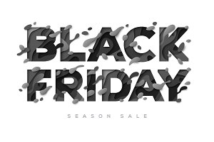 Black Friday Sale Poster on white background