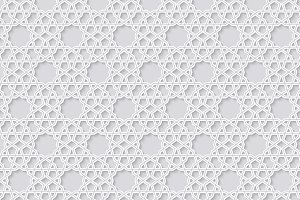 Arabesque seamless pattern on bright background