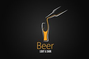beer glass design menu background