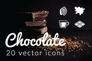 CHOCOLATE - vector icons