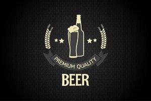 Beer glass bottle barley background