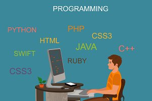 programming and coding concept