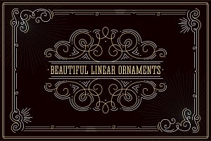 Beautiful linear ornaments