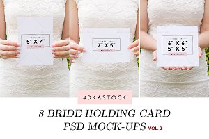 8 Bride Holding Card Mock-Ups - BDL4