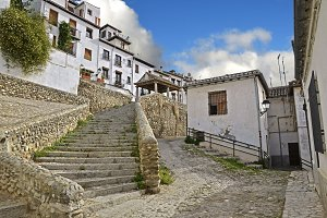 Access road to the Puerta del Sol in Granada