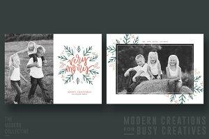 Christmas Card | Mint + Merry Wreath