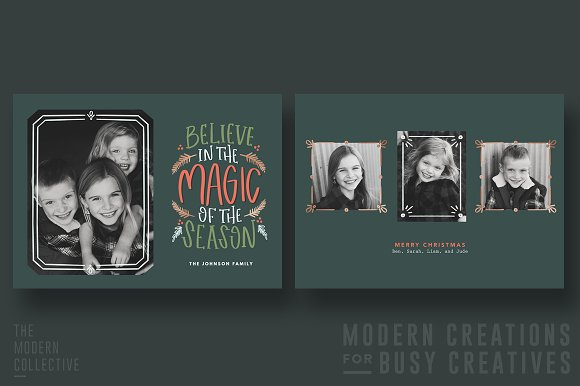 christmas card believe the magic cards - Mint Christmas Cards